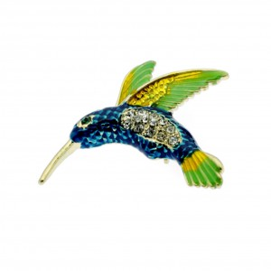Art Deco Kingfisher Brooch
