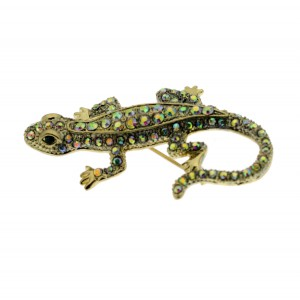 Art Deco Salamander Brooch