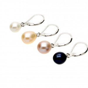 Leverback Pearl Earrings