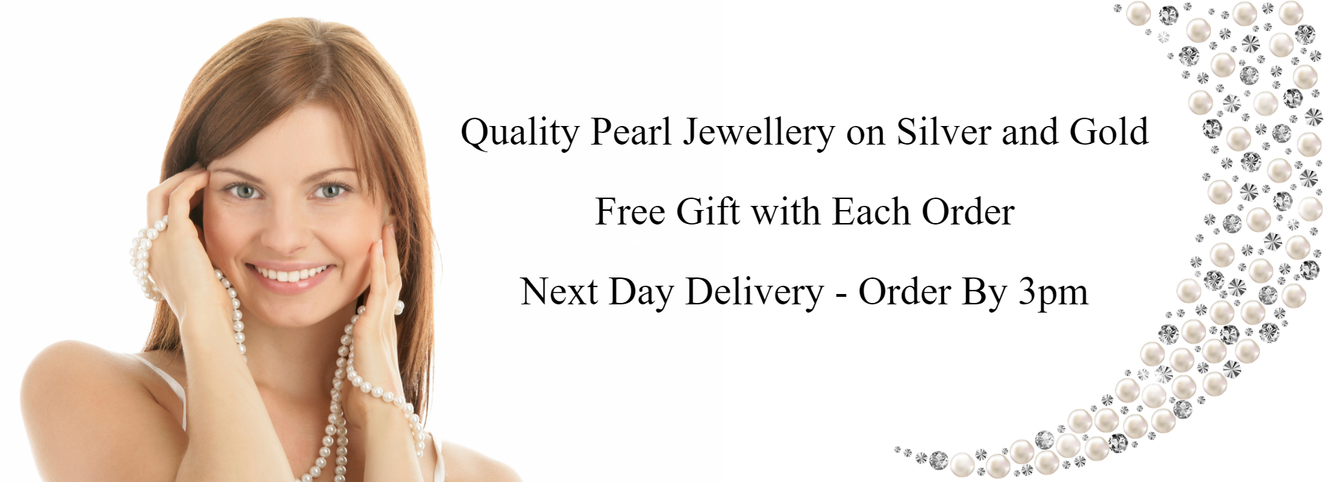 Pearl Jewellery Online - Girl with Pearl Necklace